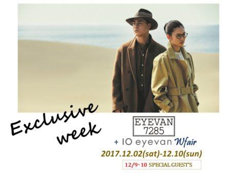EYEVAN 7285 アイヴァン7285 10 eyevan テンアイヴァン Exclusive week Wfair 岡山眼鏡店 okayamagankyoten