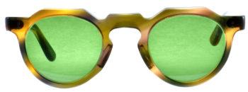 LESCA VINTAGE 6mm Crown Panto Green Orange