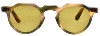 Lesca LUNETIER NO13 VINTAGE 6mm Crown Panto Green Orange