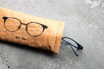 One/Three Compound Frame ワンスリーコンパウンドフレーム Letter Boy レターボーイ Soft Glasses Case THE 2nd #one_three 岡山眼鏡店 okayamagankyoten 限定 別注 cfs-01 コラボレーション 4周年 4th Anniversary