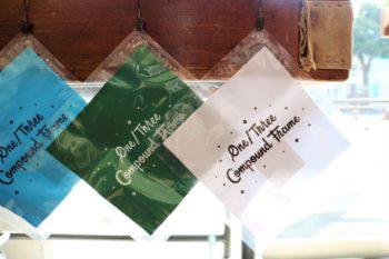 One/Three Compound Frame ワンスリーコンパウンドフレーム Letter Boy レターボーイ Glasses Cloth メガネ拭き THE 2nd #one_three 岡山眼鏡店 okayamagankyoten