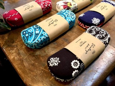 EYFe アイフ Vintage Bandana Case ビンテージ バンダナ ケース メガネ 岡山眼鏡店 okayamagankyoten Hawaiian Fabric ハワイアンファブリック